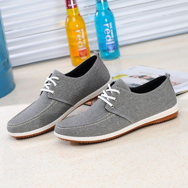 Grande Taille Couleur Pure Lacer Des Chaussures Plates En Toile Casual xDcc4ojlf