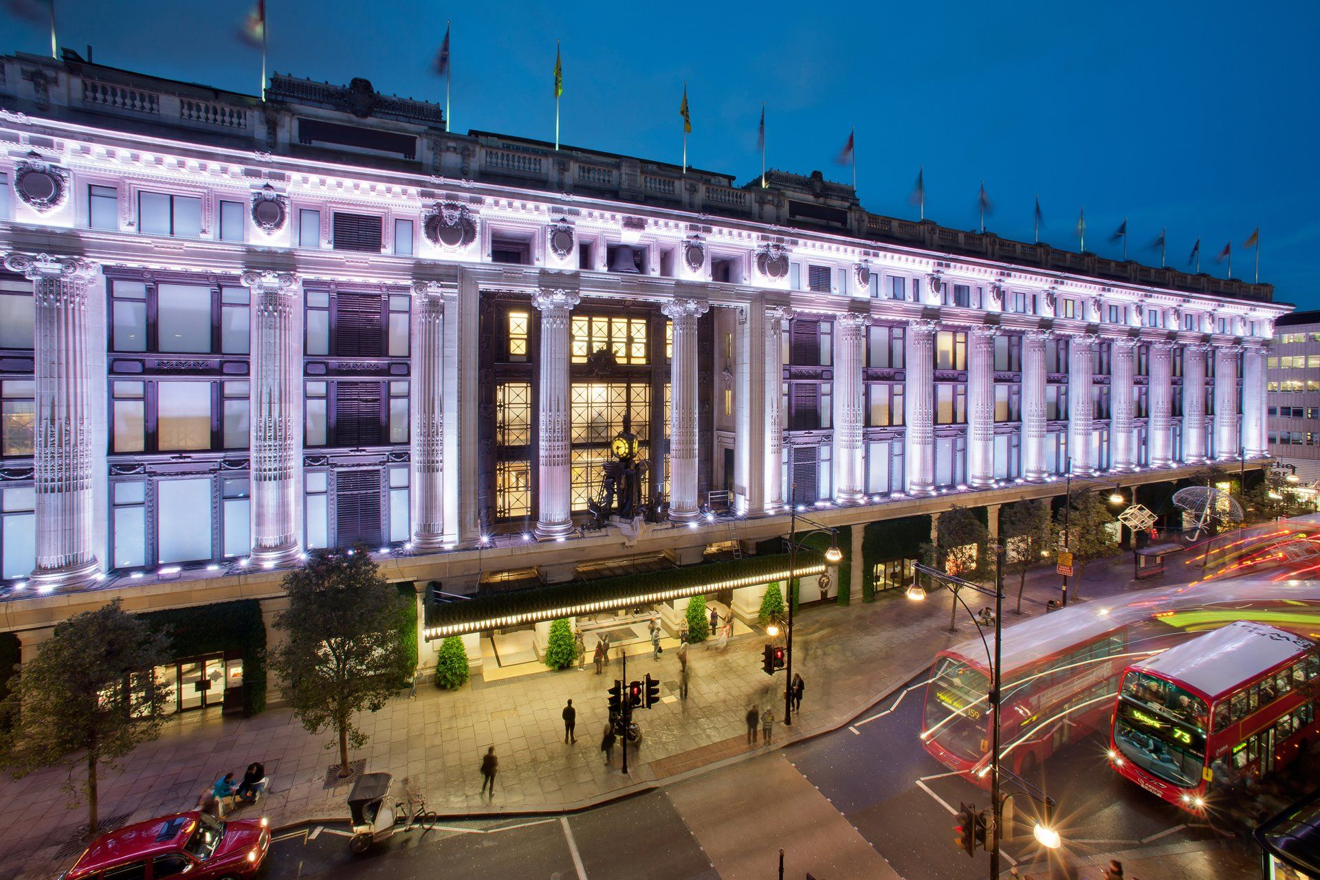 Selfridges, London:  Open to the World Since 1909.