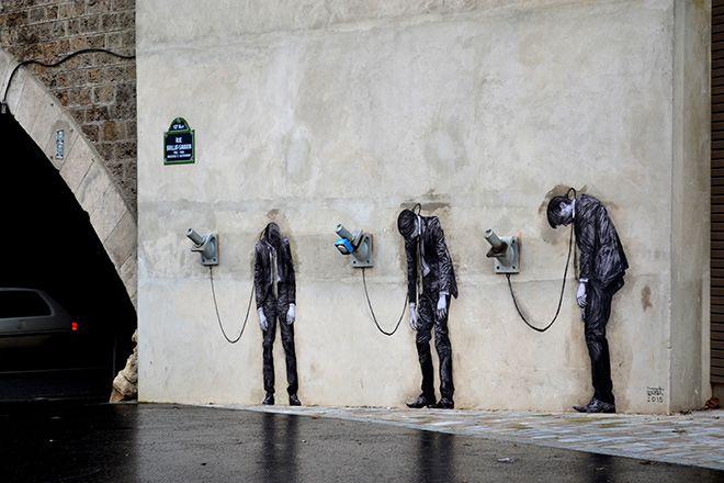 Levalet - Street art - Paris