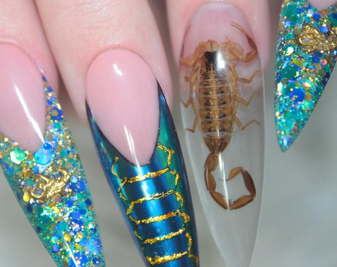 ногти с скорпионом фото супер