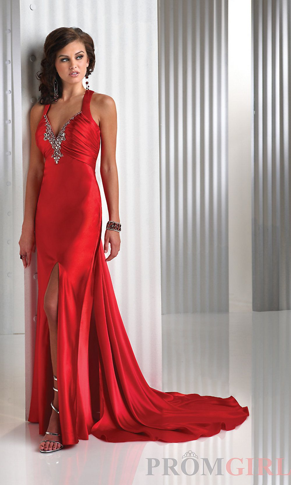 Sexy red prom dress flirt evening gown long red dress promgirl