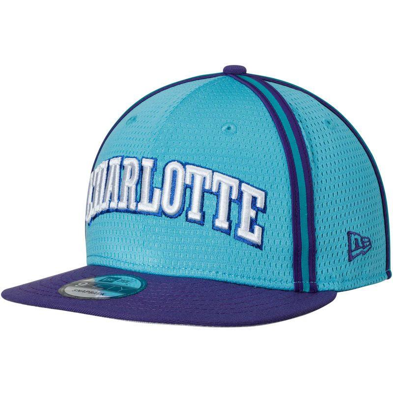 low priced b596a 0c28d Charlotte Hornets New Era Hardwood Classics Nights 3 9FIFTY Adjustable  Snapback Hat - Teal Purple