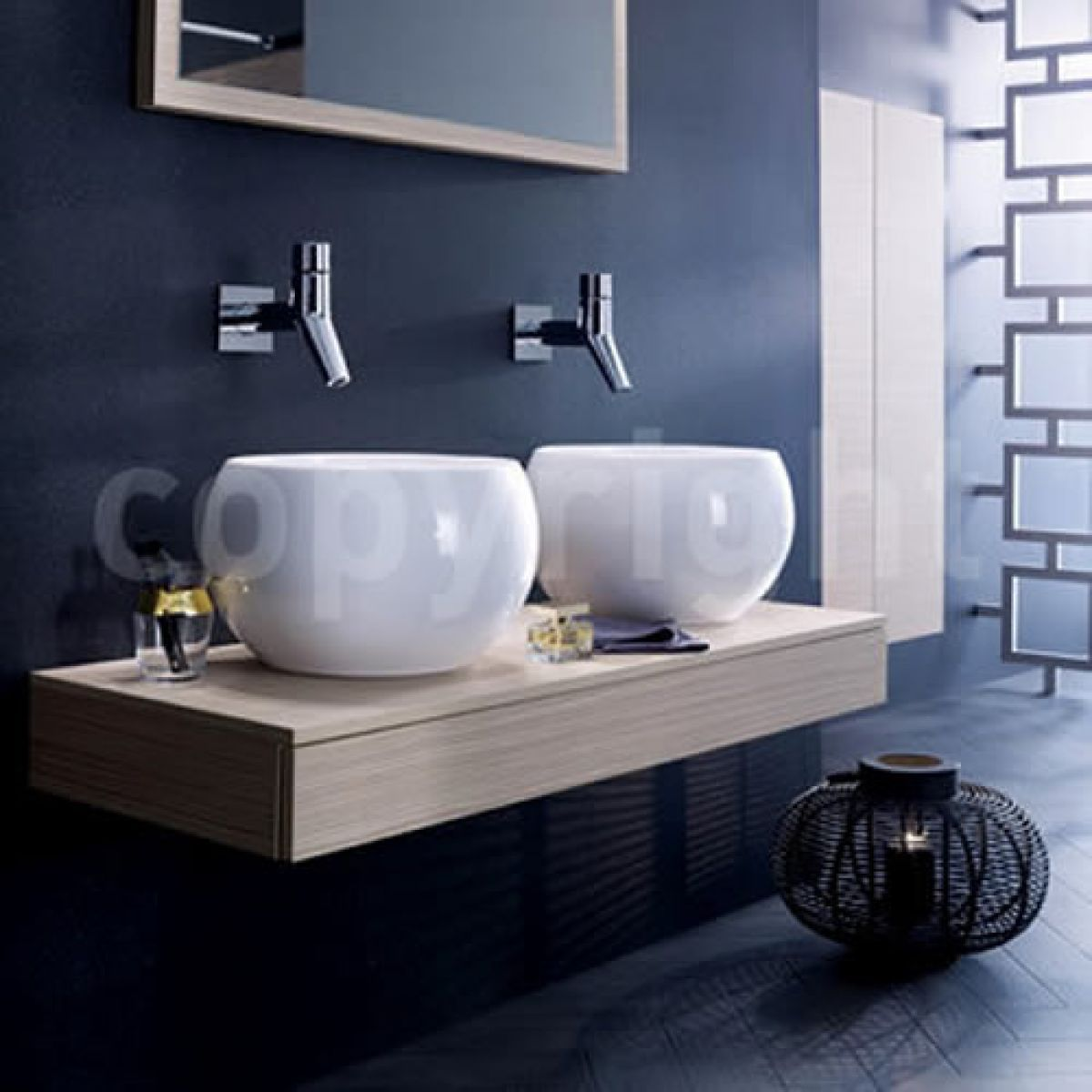 Bauhaus Globe Countertop Basin Ukbathrooms Diameter 400mm