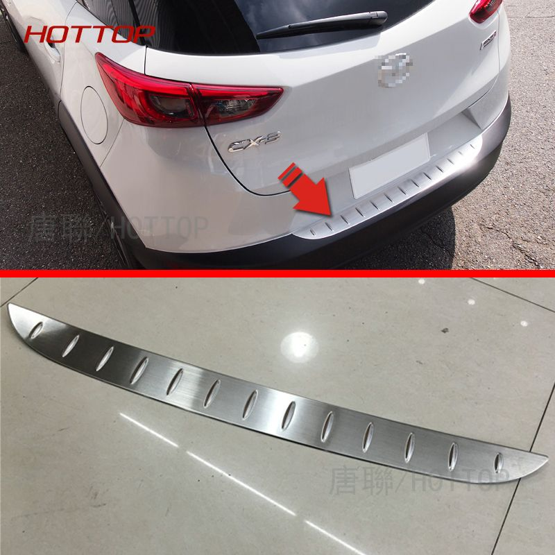 HOTTOP Outside Stainless Steel Rear Bumper For Mazda CX-3 2016 2017 ...