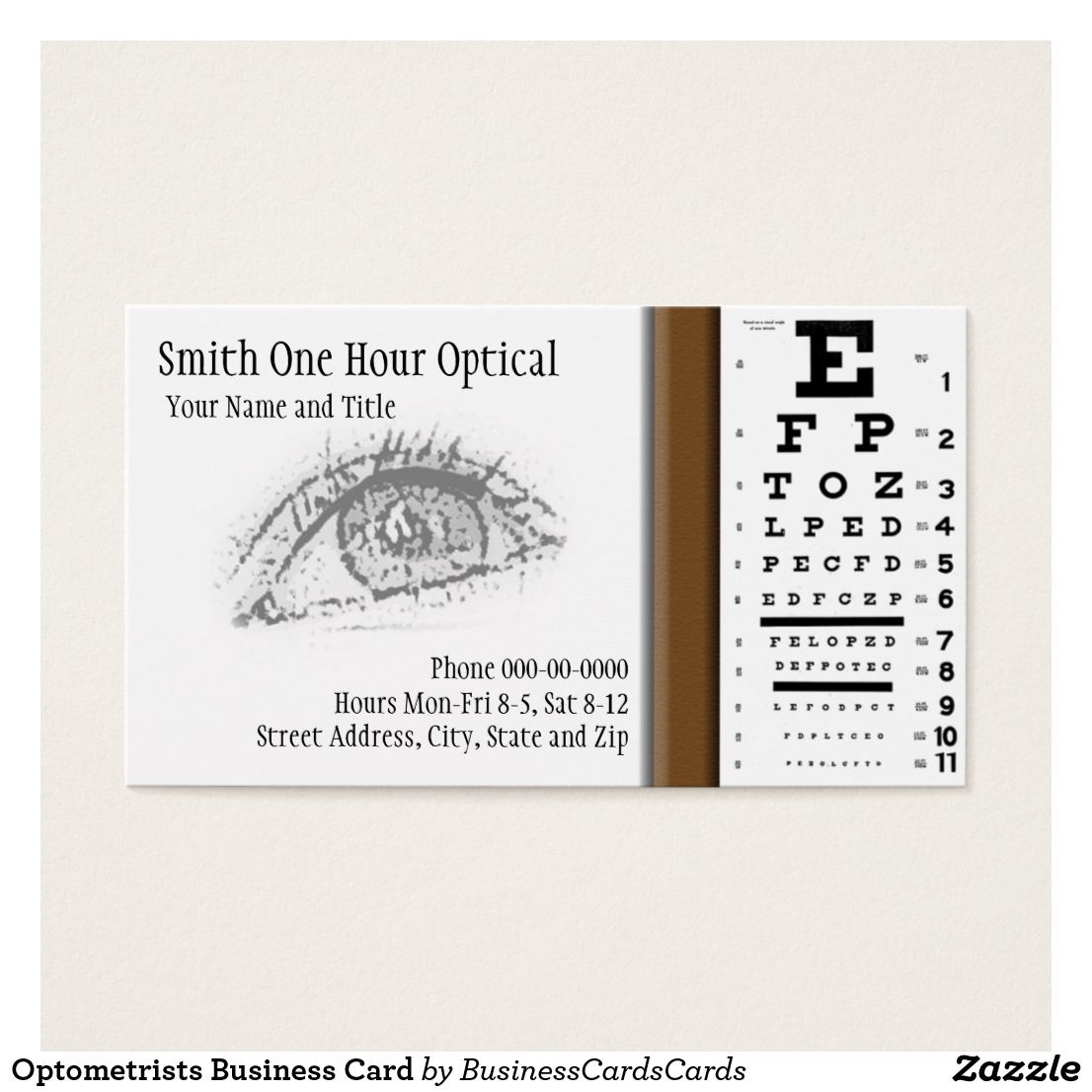 Charming optometry business cards gallery business card ideas optometrists business card business cards and business colourmoves Images