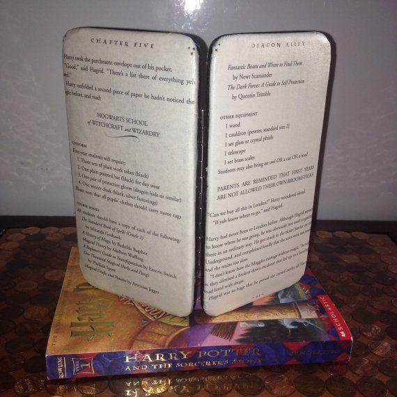 Harry Potter Book Page Clasp Wallet