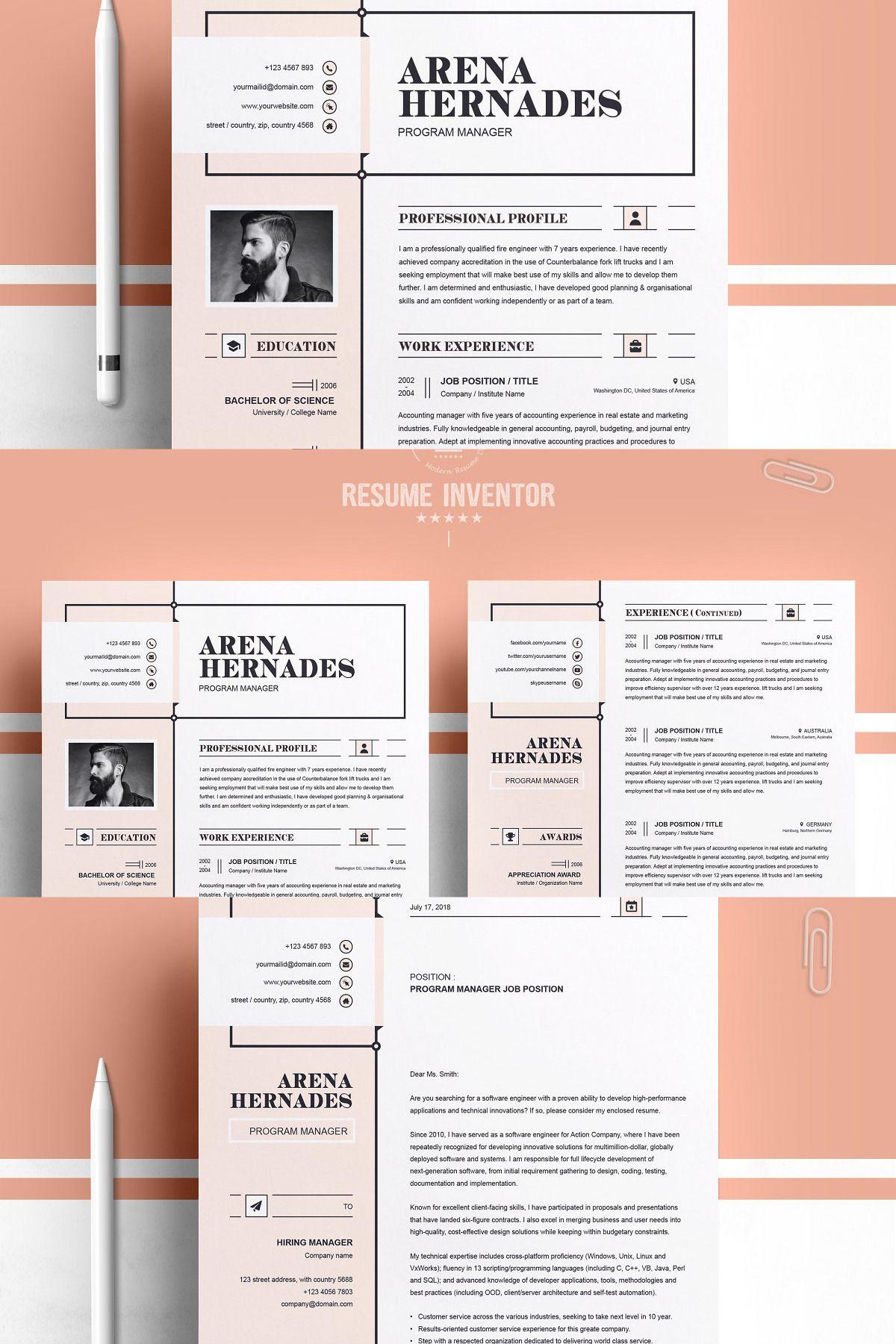 Modern resume template modern resume template resume