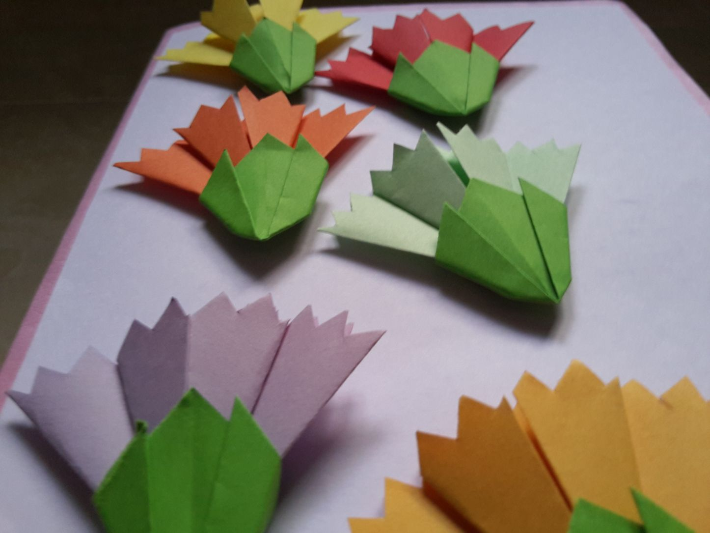 How To Make Easy Origami Flowers For Greetings Card Decoration