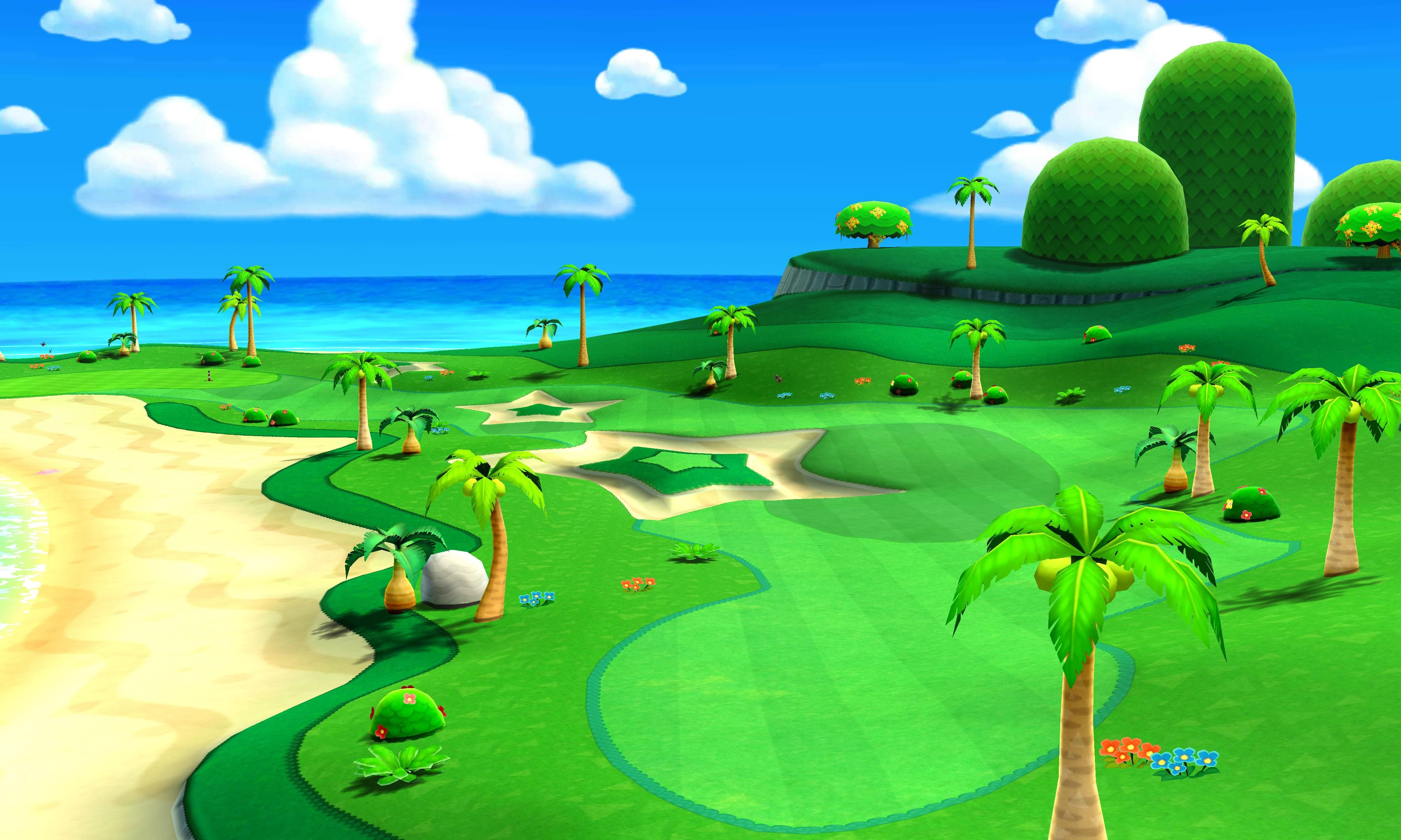 Golf Course art 6 from the official artwork set for #MarioGolf World Tour on the #Nintendo3DS. More info on #Mario 3DS games @ http://www.superluigibros.com/3ds-games