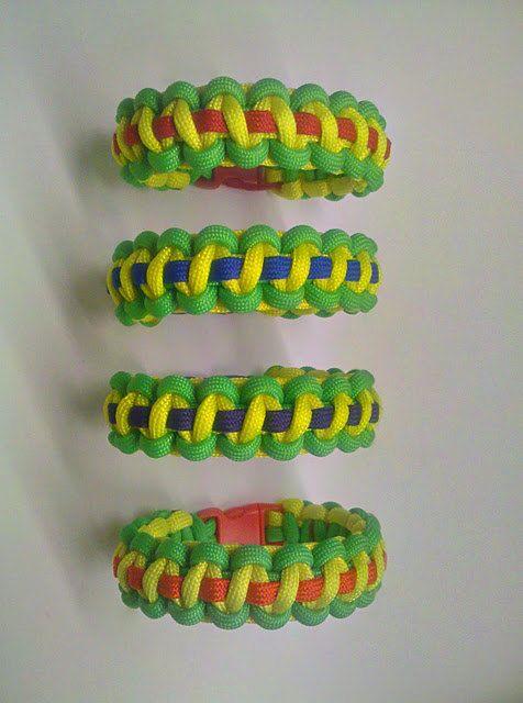 Teenage Mutant Ninja Turtles Paracord Bracelets - Four Bracelet Set