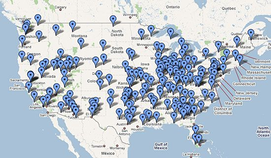 Map Of Us Fema Camps Pin on Political