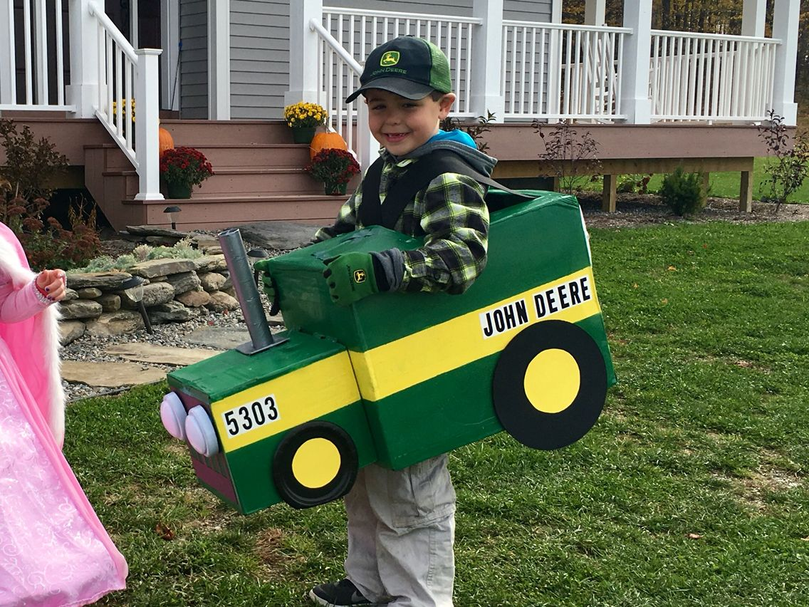 brady, 6 and his john deere tractor halloween costume | just brady