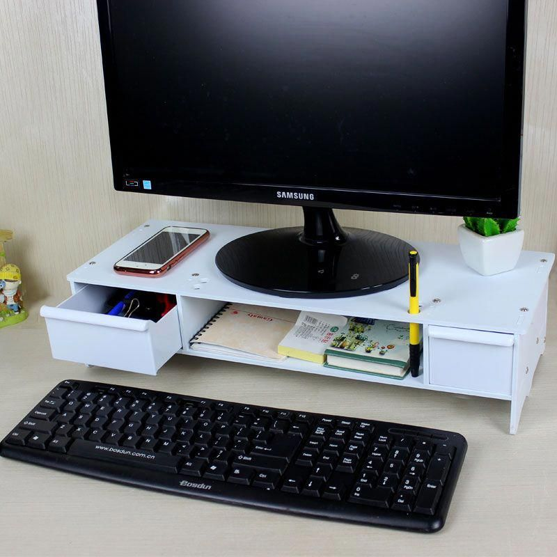 Double drawers computer monitor Increased desk Base Stand