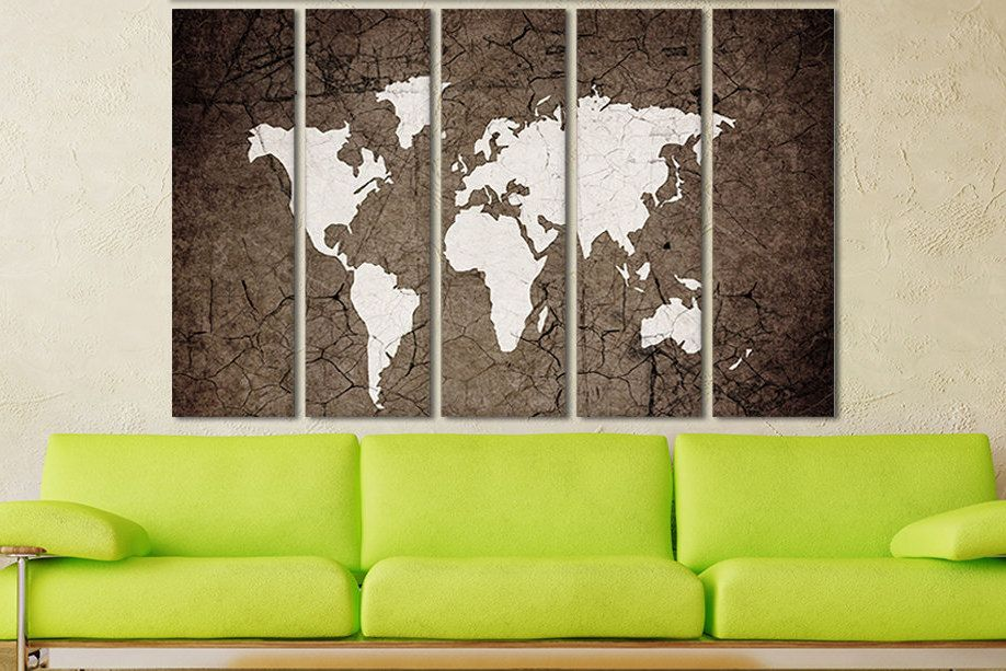 World map print canvas large wood map modern art print sets canvas world map print canvas large wood map modern art print sets canvas panel set world map poster with frame extra large canvas panels new art gumiabroncs Image collections