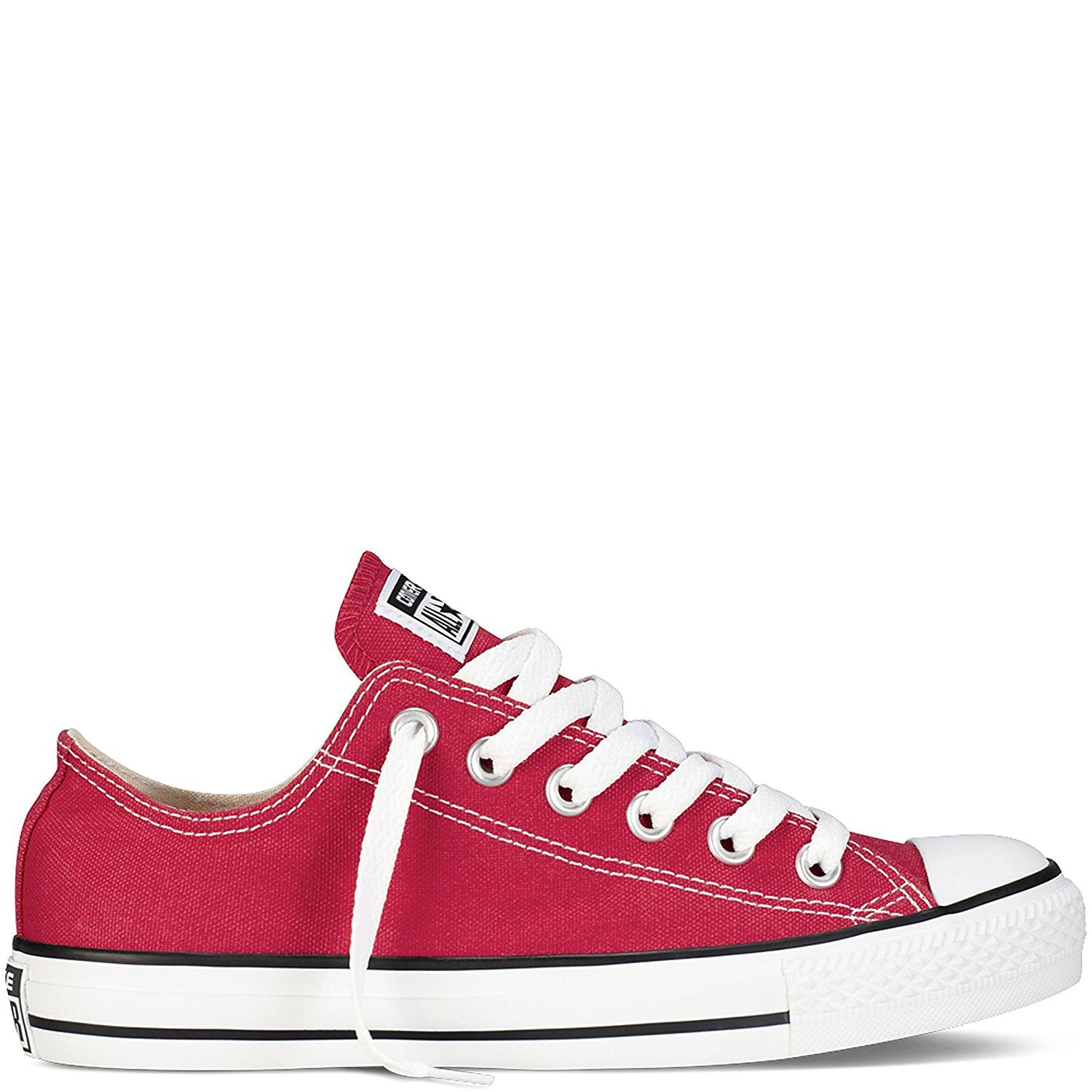 CONVERSE SNEAKERS All Star Trainer OX White / Red /Navy Unisex Man Scarpe Casual