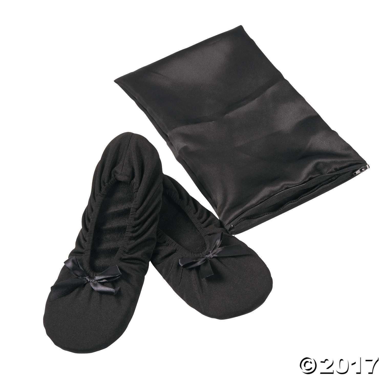 Black Foldable Ballet Flats