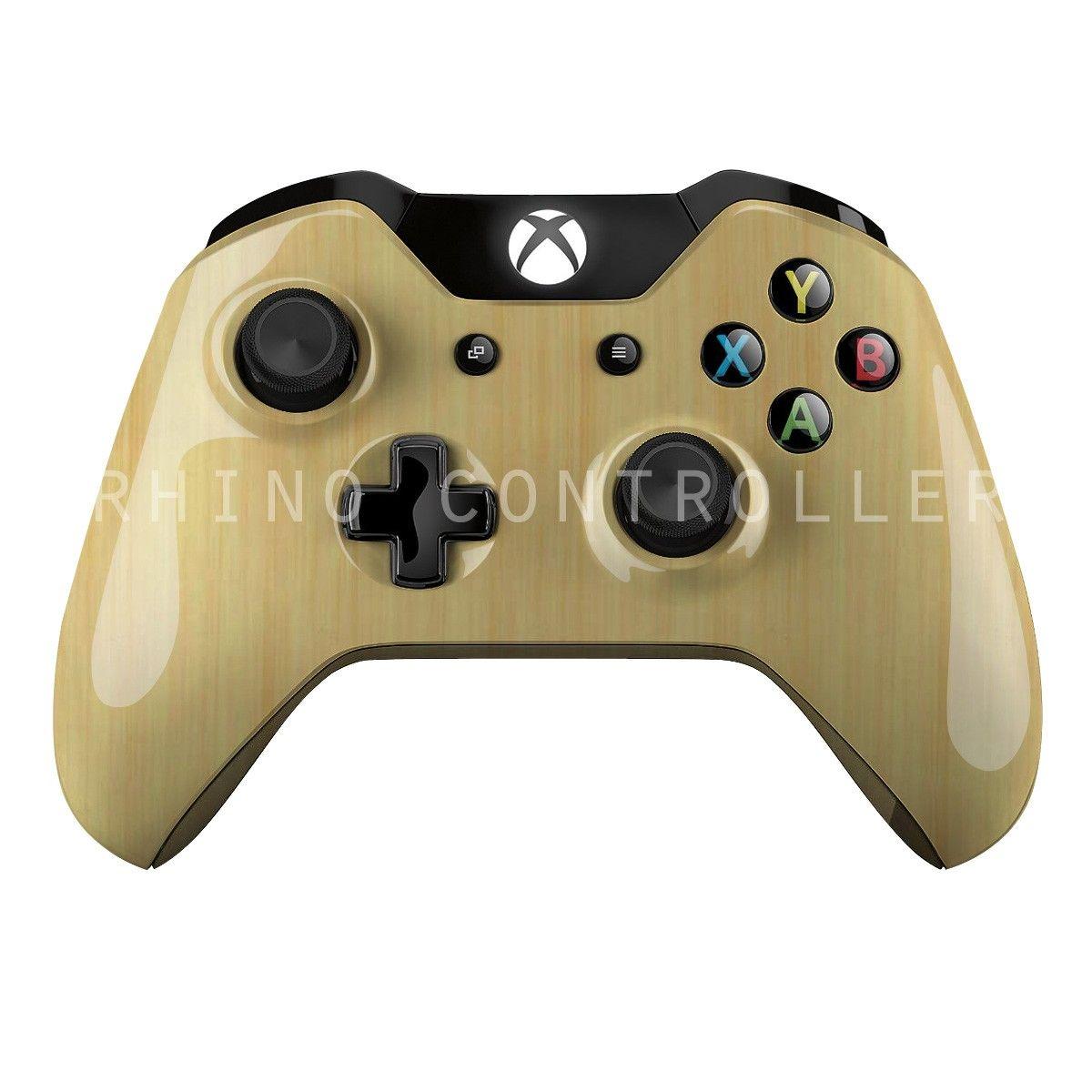 Custom Xbox One Controller Wireless Glossy Wtp 518 Bamboo