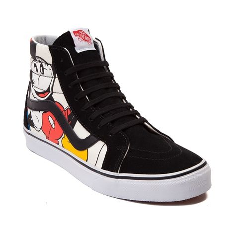 Put yourself in Mickey s shoes! Step into certified Disney style with the  new Vans Sk8 Hi Mickey Mouse Sneaker 4b7f9fac3b1