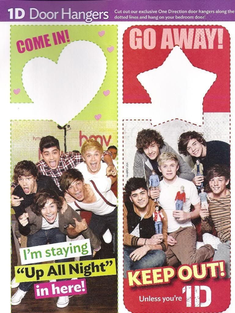 NEW - 8 One Direction 1D Up All Night Door Hangers * Cute, Sexy ...