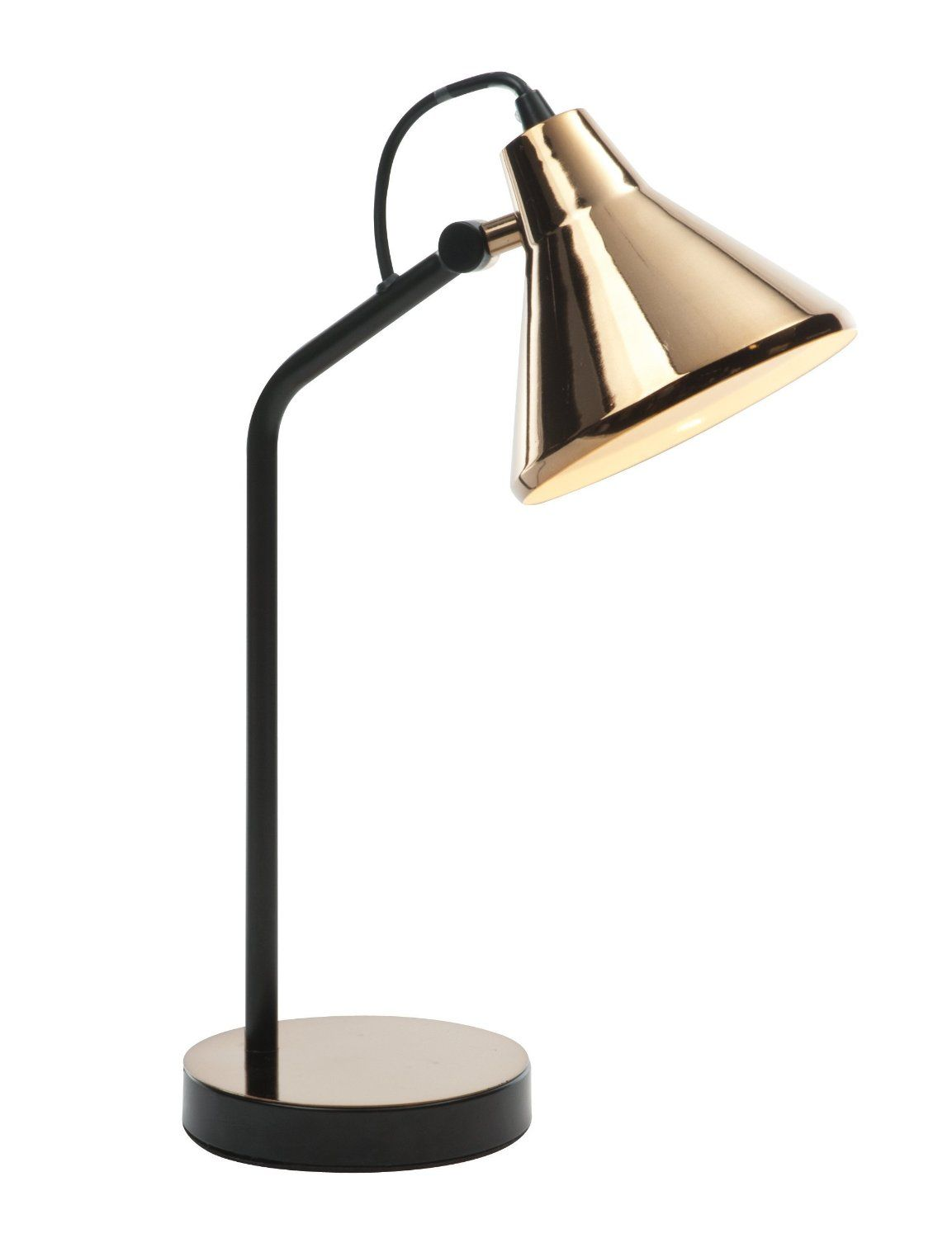 Copper wire lamp google zoeken projecten om te proberen stylish warm copper matt black paint table lamp light with adjustable neck keyboard keysfo Image collections