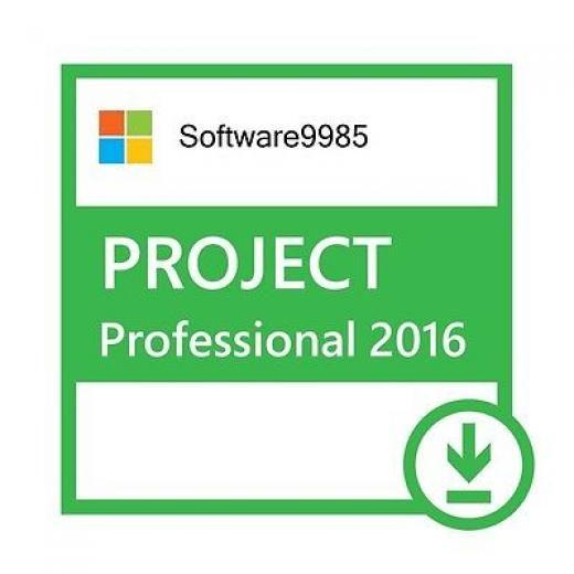 Microsoft Project Professional 2016 Pro 32 / 64 Bit Product License