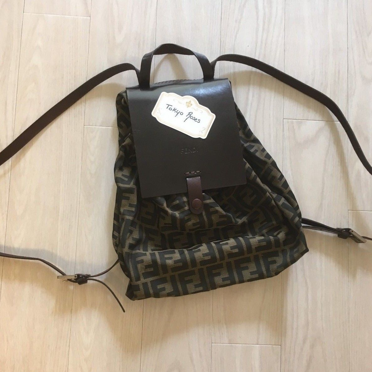 47b60004ffbb Fendi Zucca Vintage Small Monogram Trotter FF Print Backpack ...