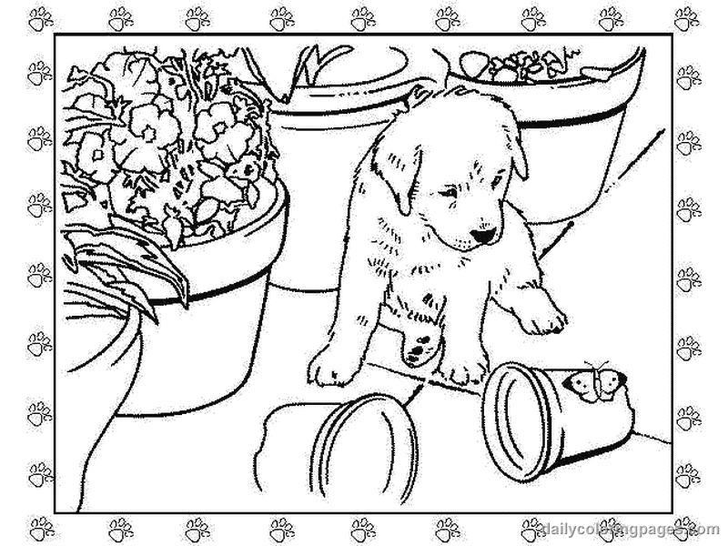 Puppy Coloring Pages Animals Printable Coloring Pages