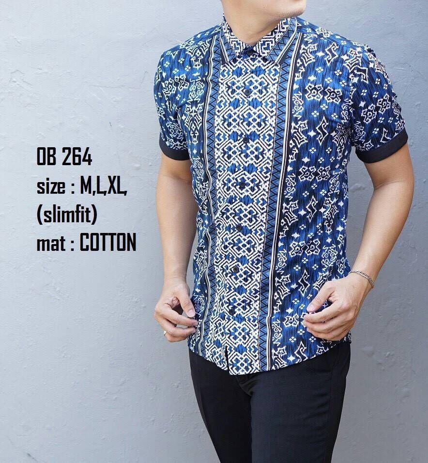 Baju Batik Pria Lengan Pendek Model Baju Pria Terbaru Male Batik