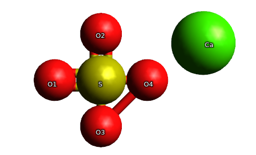 Calcium Sulphate molecule (Tissue Salt number 3: Calcium ...