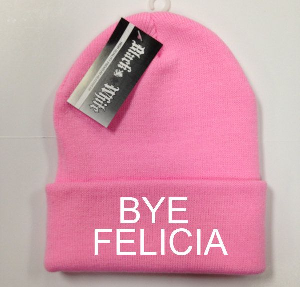 588f072e7891b Bye felicia PINK Beanie Funny Knit beanie Beanies by cushQUOTES ...