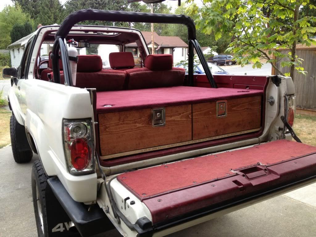 87 4runner Sleeping Platform With Drawers 4runner Toyota Suv Truck Camping