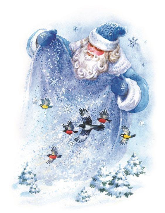 Скрапбукинг, рукоделие, Картинки с Дедом Морозом ...
