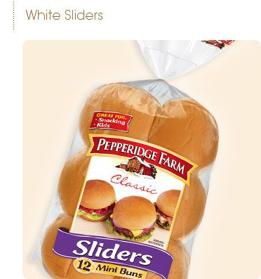 Pepperidge Farm® - Sandwich Buns Not square like a classic slider, but good enough... | Products ...