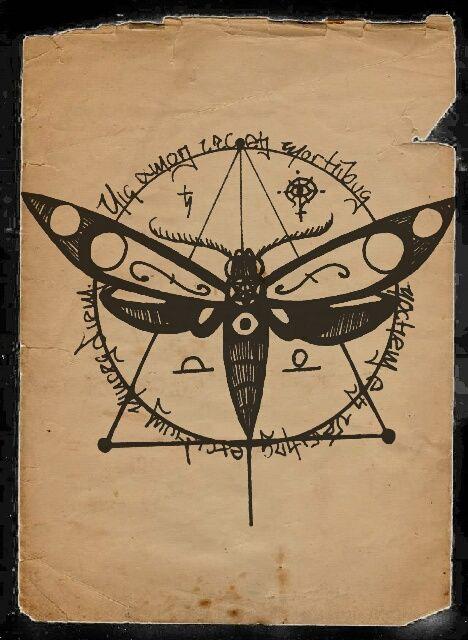 occult moth   the dark...