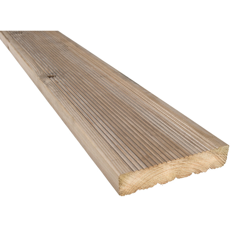 Travis Perkins Treated Timber Decking Board 35mm X 148mm X 3 6m