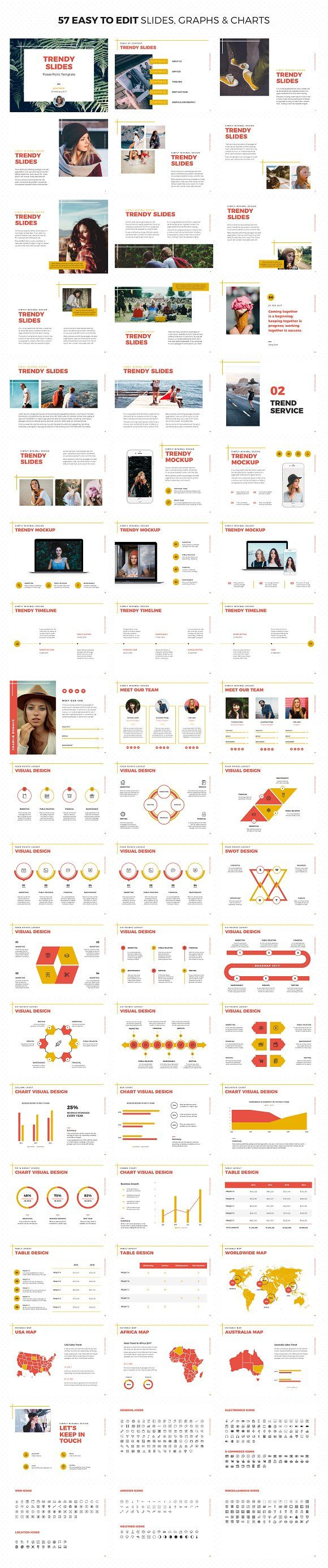 trendy slides powerpoint template presentations Дизайн design