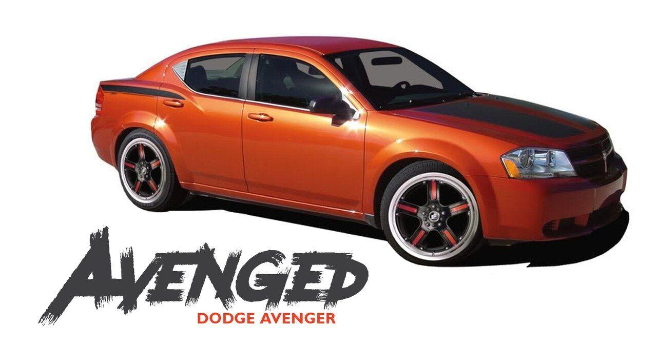 Dodge Avenger Avenged Hood Quarter Body And Trunk Vinyl Graphics Decals Striping Kit For 2008 2009 2010 2011 2012 2013 2014 Dodge Avenger Vinyl Graphics Avengers