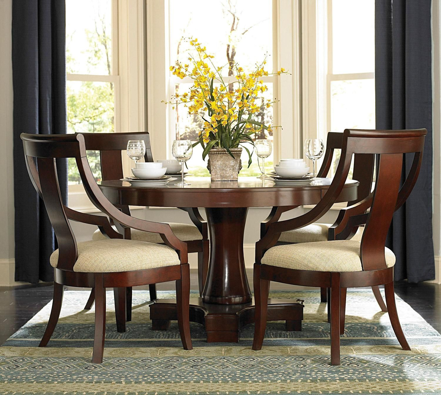 Contemporary Round Dining Room Tables Stunning Transitional Round Dining Table And 6 Chairs  Google Search Inspiration