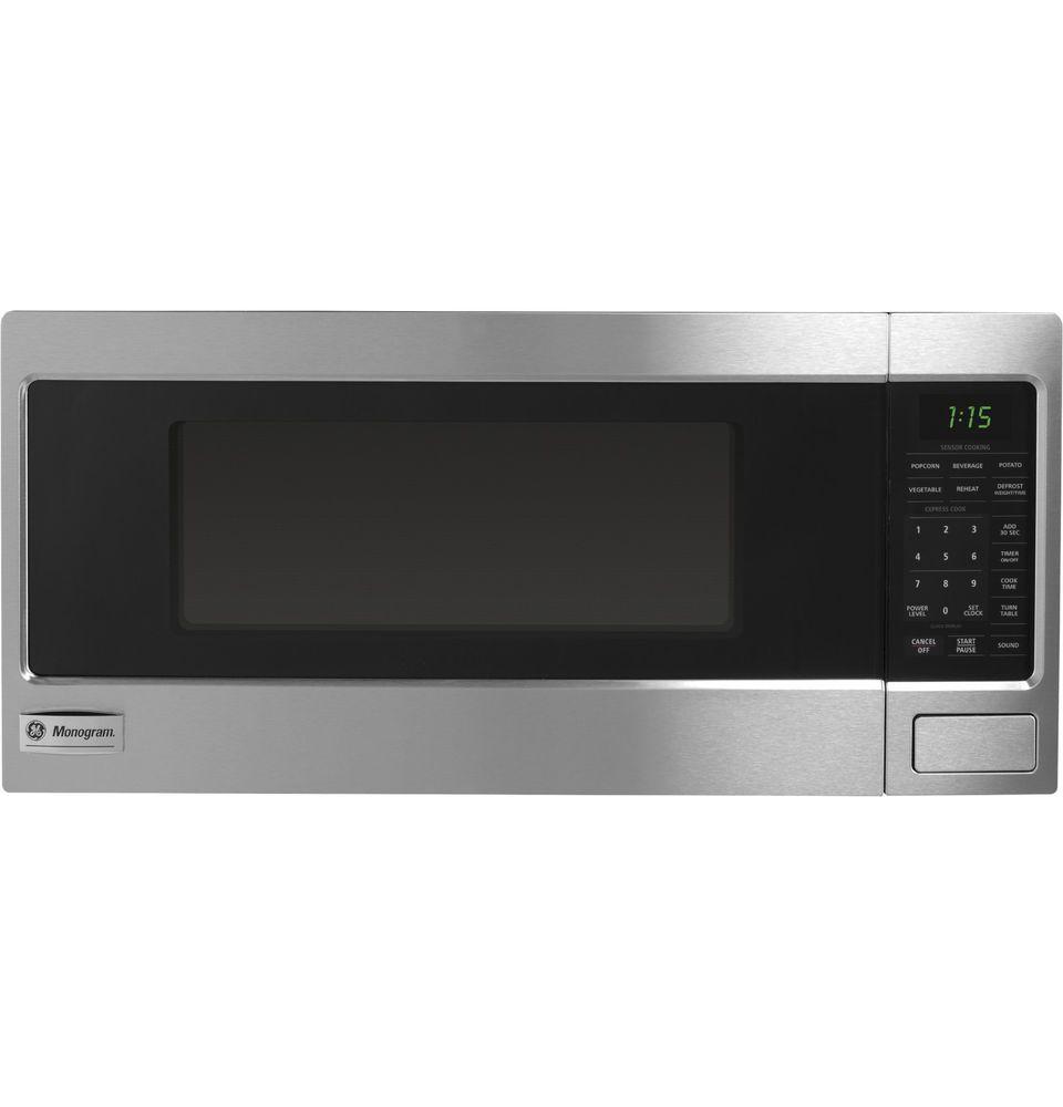 Ge Monogram Countertop Microwave Oven 1 1 Cu Ft Stainless Steel