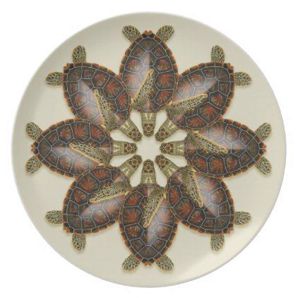 Green Turtle Melamine Plate - kitchen gifts diy ideas decor special unique inidual customized  sc 1 st  Pinterest & Green Turtle Melamine Plate - kitchen gifts diy ideas decor special ...