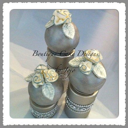 Silver & White Bridal Bauble Cake  Cake by Jojo Wilder-Tobar