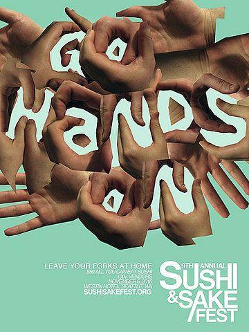 sushi & sake fest poster
