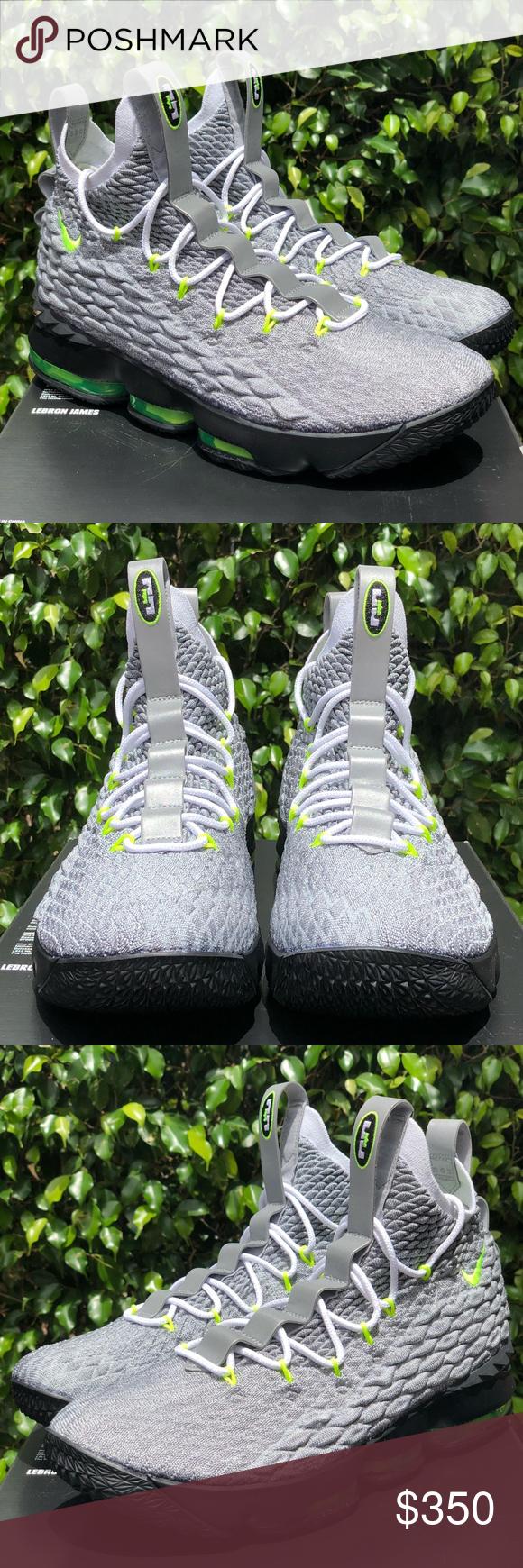 894994b3436 Nike Lebron XV 15 Air Max 95 PE Neon Green Grey 😁Brand New - Never
