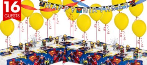Superman Party Supplies Deluxe Kit