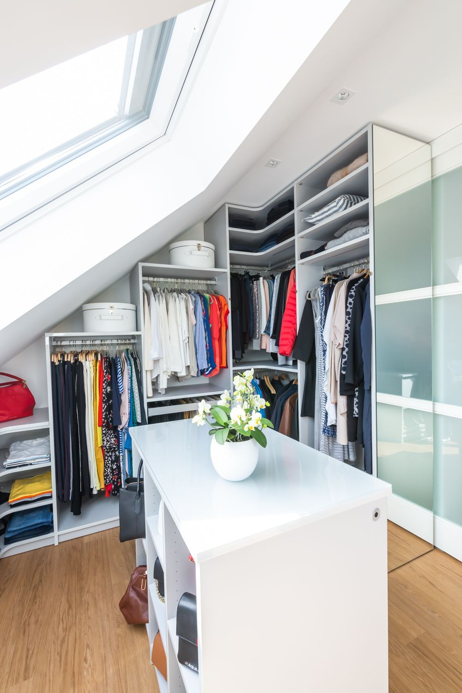 Closet loft A walkin closet under the a… in 2020