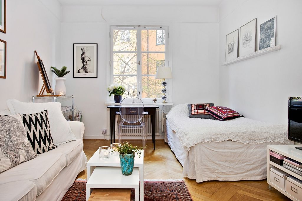 Live small but with style, decorate your studio apartment with