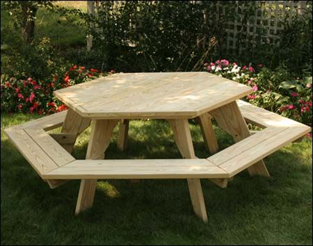 Superb Treated Pine Hexagon Picnic Table My Bumble Bee Pallet Interior Design Ideas Gentotthenellocom