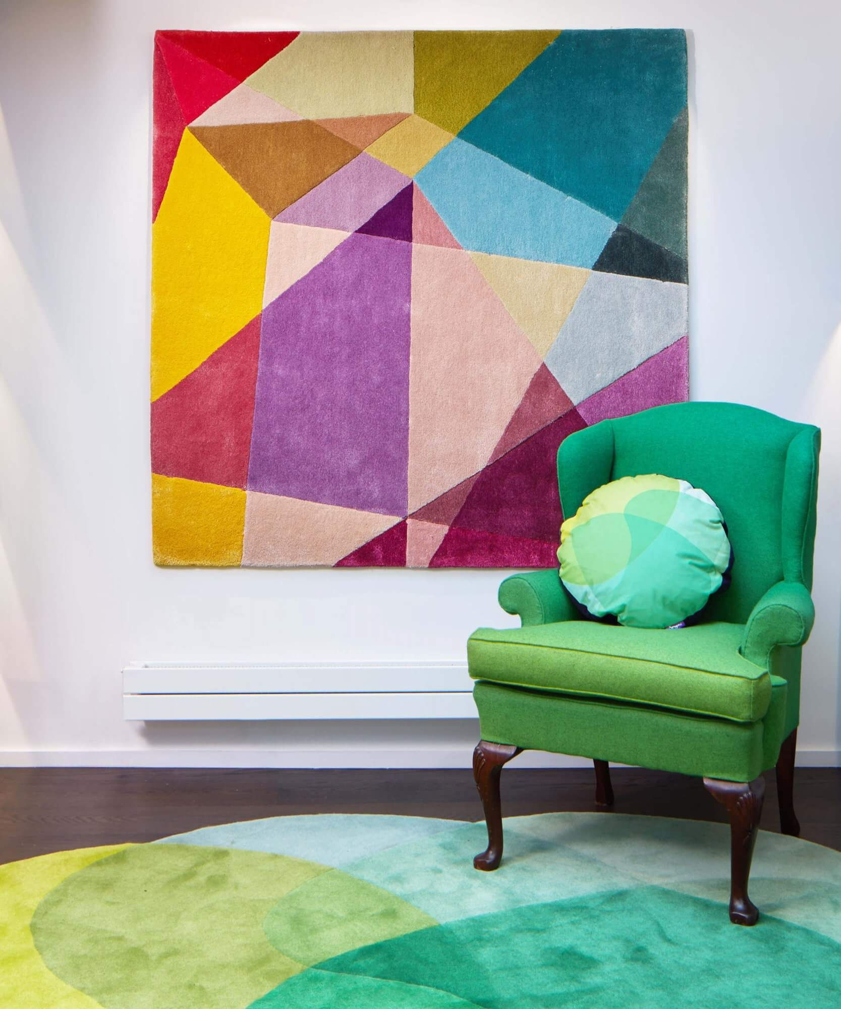 Prism Vibrant Rectangle Rug Modern Colour Geometric