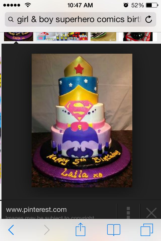 Super girl cake Superhero birthday Pinterest Girl cakes