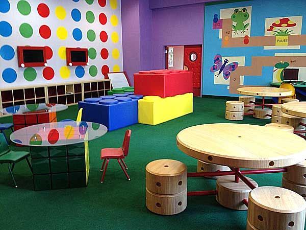 Play Room Design With Rubric Cube Tables Etch A Sketch